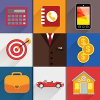 Elementos de design da Web com ícones de contabilidade