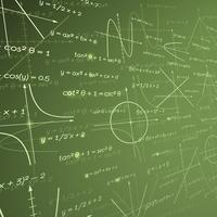 Fundo de quadro de giz de matemática vetor