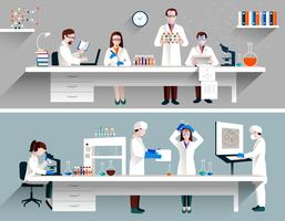 Cientistas no conceito de laboratório vetor