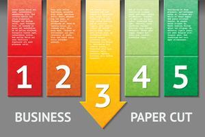 Modelo de corte de papel de negócios vetor
