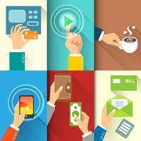 Mãos de negócios em ação
