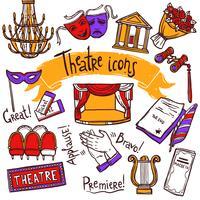 Conjunto de ícones de teatro