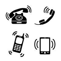 Coleção de telefones tocando vetor