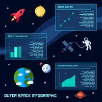 Conjunto de infográfico de espaço