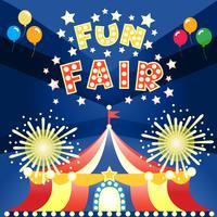 cartaz da feira de divertimento