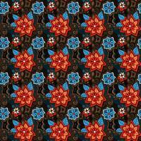 teste padrão floral sem costura verão colorido