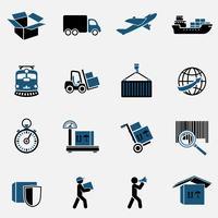Conjunto de ícones logísticos