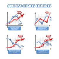 Elementos de gráfico de negócios para infográficos vetor