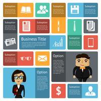Elementos de design de infográficos de negócios plana