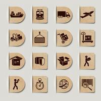 Conjunto de etiquetas de serviços logísticos