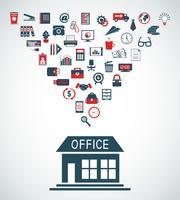 Conceito de edifício de escritórios de negócios