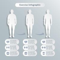 Elementos de infográfico para homens fitness