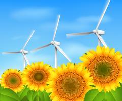 Fundo de energia verde vetor