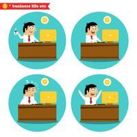 Trabalhador escritório, escrivaninha