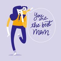 Para o dia das mães vetor