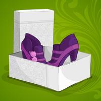 Botas roxas de tornozelo de moda feminina vetor