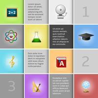 Elementos de infográfico de educação