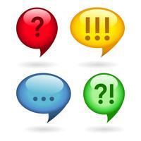 Reticências, exclamação, pontos de interrogação vetor