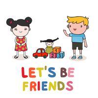amizade de crianças vetor
