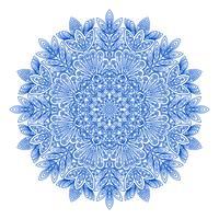 Padrão de floco de neve redondo ornamental