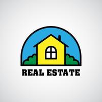 logotipo imobiliário de casa vetor