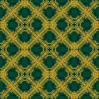 Sem costura padrão amarelo e verde em estilo árabe ou muçulmano vetor