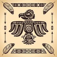 Sinal de águia americana tribal vetor