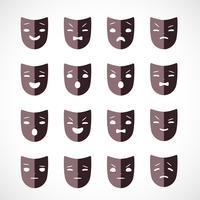 máscara de teatro vetor