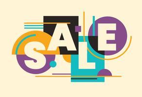 Banner de venda com tipografia vetor