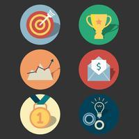 Conjunto de ícones de conceito de sucesso