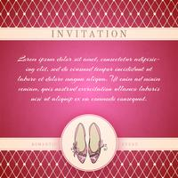 Modelo de convite de princesa Cinderela vetor