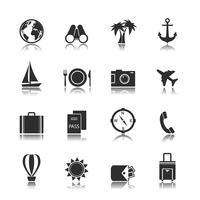 Elementos de interface de viagem de turismo vetor