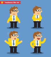 Ícones de emoções de negócios vetor