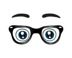 Óculos com ícone de olhos vetor