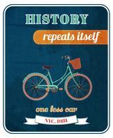 Cartaz de promo de bicicleta hipster vetor