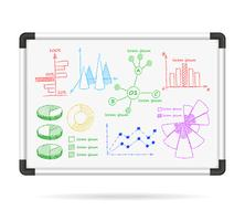 Cartas de infográfico de placa de marcador vetor