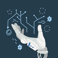 Mão robótica vetor