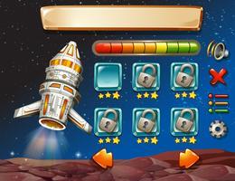 Modelo de jogo com fundo do espaço vetor