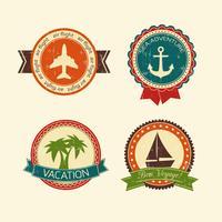 Coleção de distintivos de viagens de férias