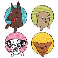 Conjunto de ícones de cães fofos vetor