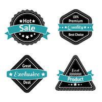 Coleção de adesivos de etiqueta de venda