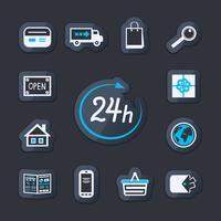 Loja de sites da Internet aberta 24 horas