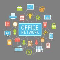 Rede de escritório de negócios e comunicação