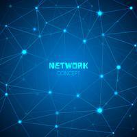 Conceito de rede de tecnologia abstrata