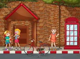 Crianças, rua vetor