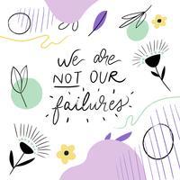 Citação motivacional doodle fundo vetor