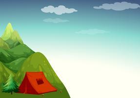 Local de camping vetor