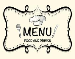Design de logotipo do menu do restaurante vetor