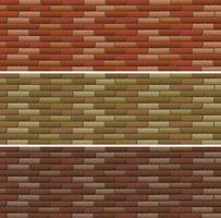 Design de estrada e parede com tijolos vetor