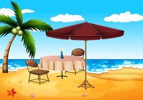 Uma praia vetor